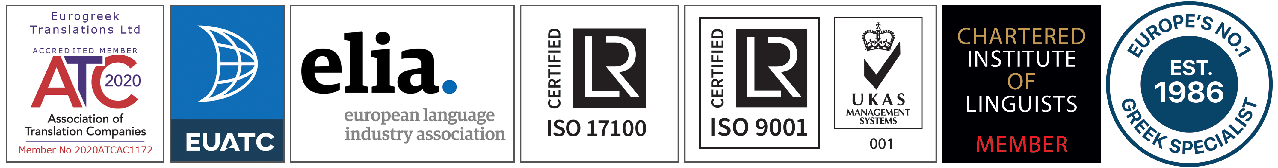 EuroGreek Translations ISO Certifications